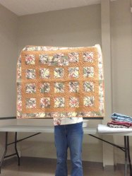 Donna Murawski: That is a wheelchair charity quilt I made