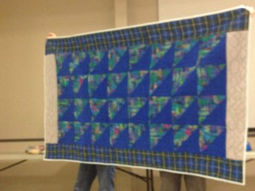 Donna Murawski: I made this charity quilt to be donated to the men's rehab